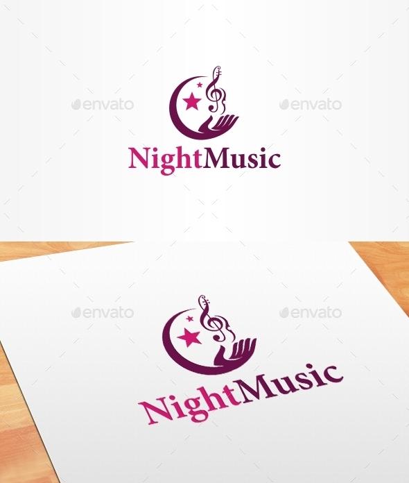 Night Music Logo Template - Symbols Logo Templates
