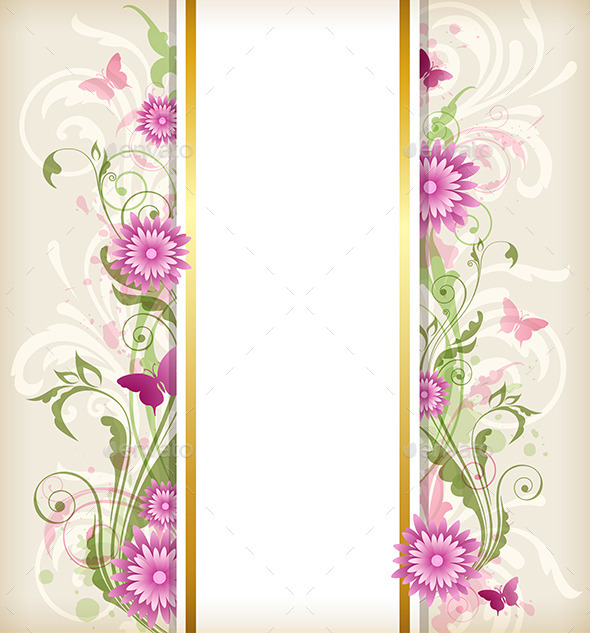 Floral Background with Pink Flowers - Flowers & Plants Nature