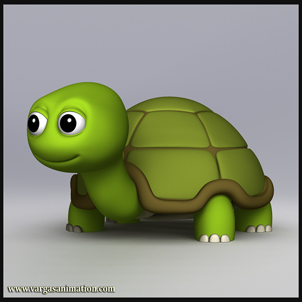 Cartoony Turtle - 3DOcean Item for Sale