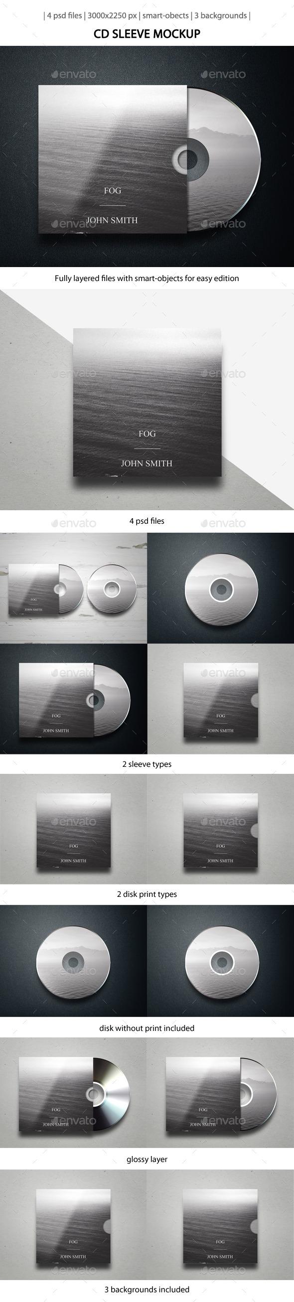 CD Sleeve Mockup - Miscellaneous Print