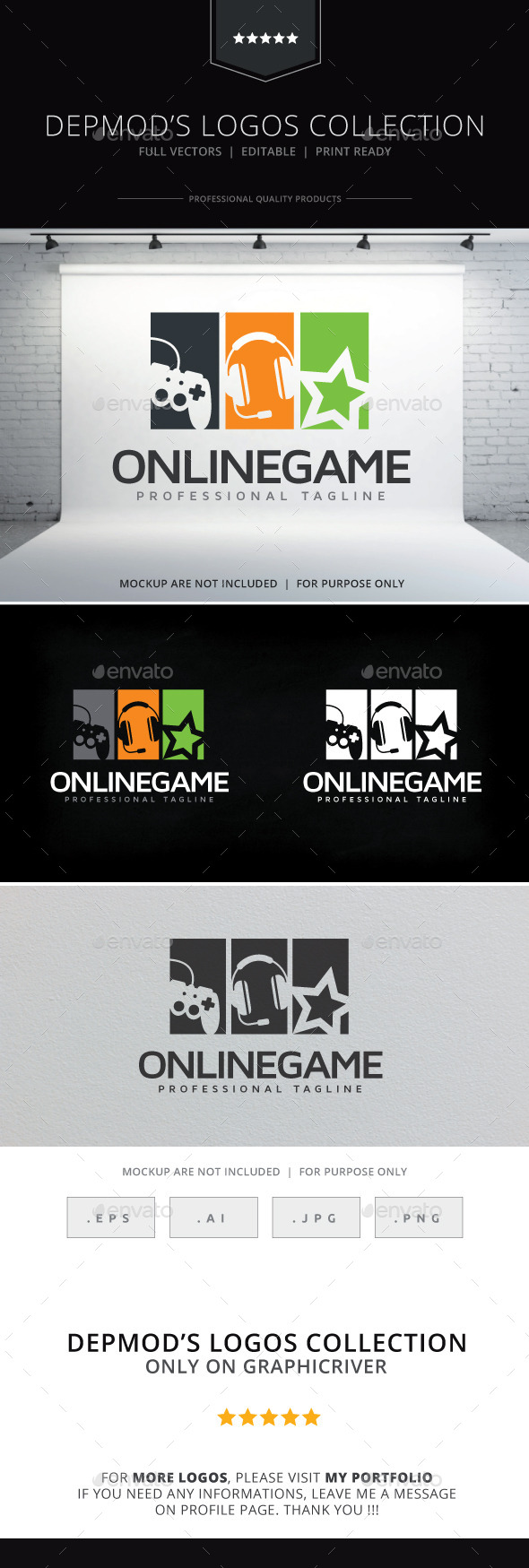 Online Game Logo - Objects Logo Templates