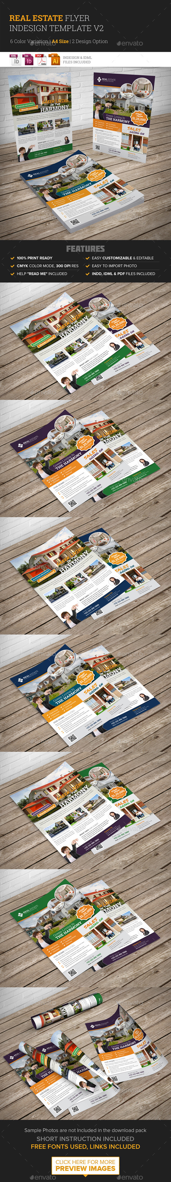Real Estate Flyer Indesign Template v2 - Corporate Flyers