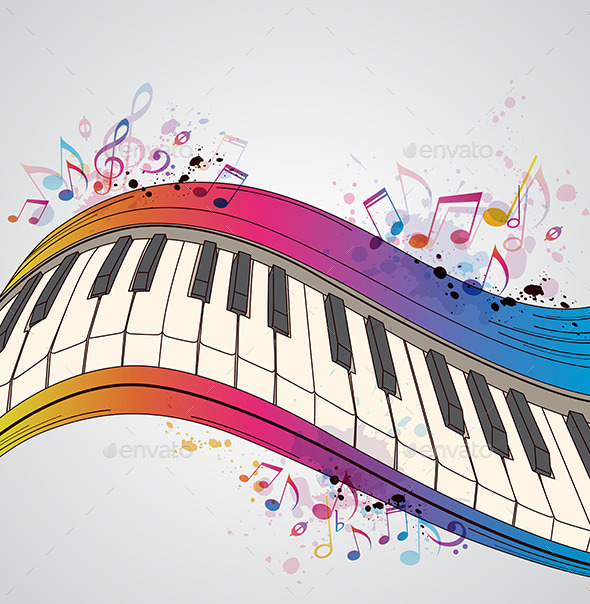 Music Background with Piano - Miscellaneous Conceptual