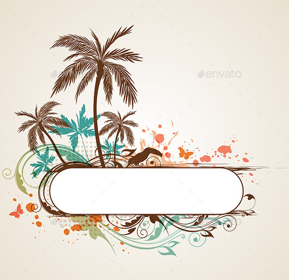 Tropical Background with Palms - Seasons Nature