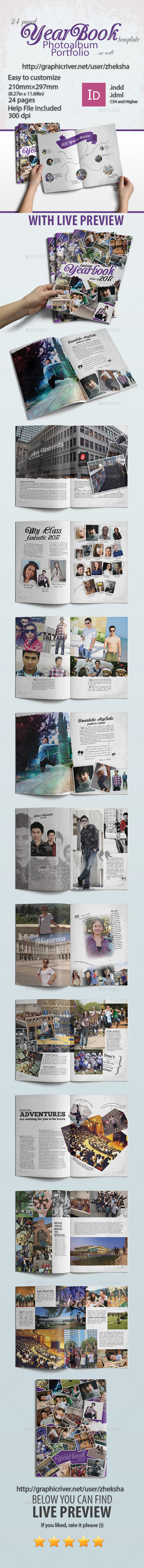 Modern Complex Yearbook - Photo Albums Print Templates