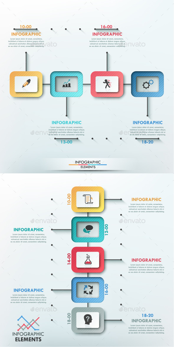 Modern Infographic Paper Timeline (2 Items) - Infographics