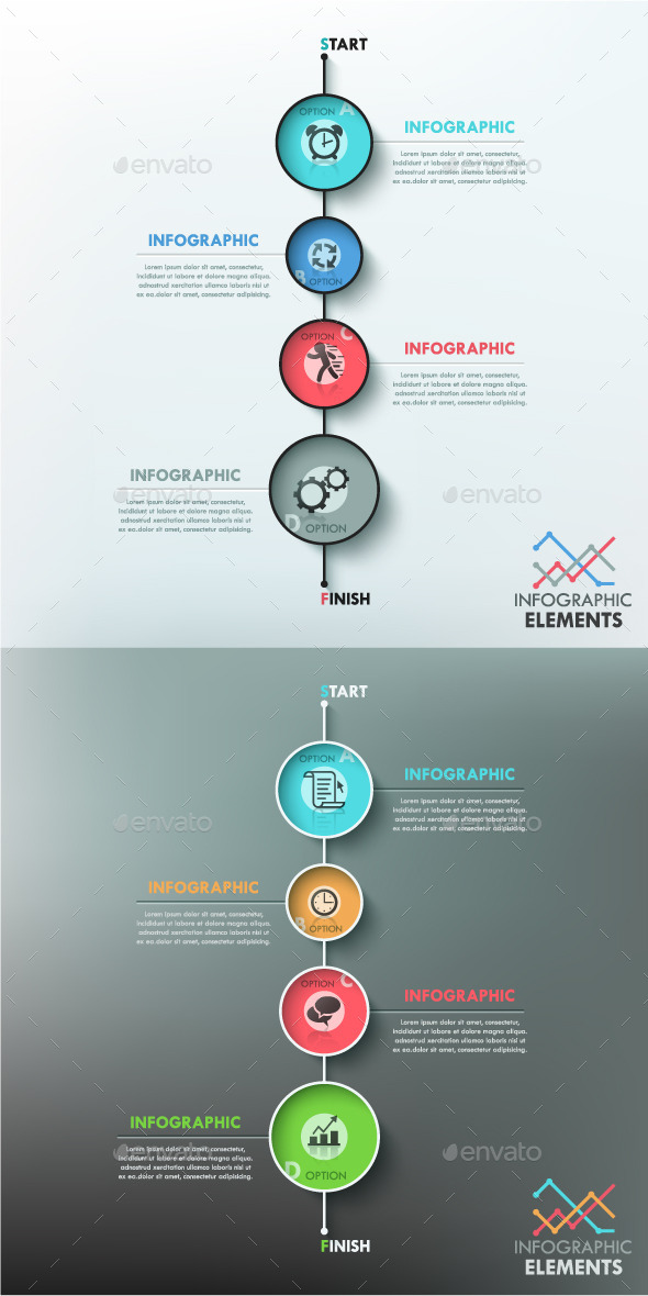 Modern Infographic Template (2 Items) - Infographics