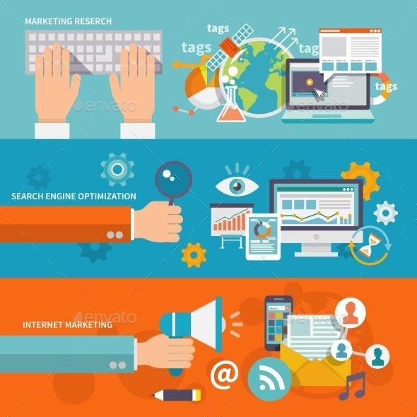 Seo Internet Marketing Banner - Miscellaneous Vectors