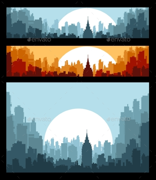 Banners on City Theme - Buildings Objects