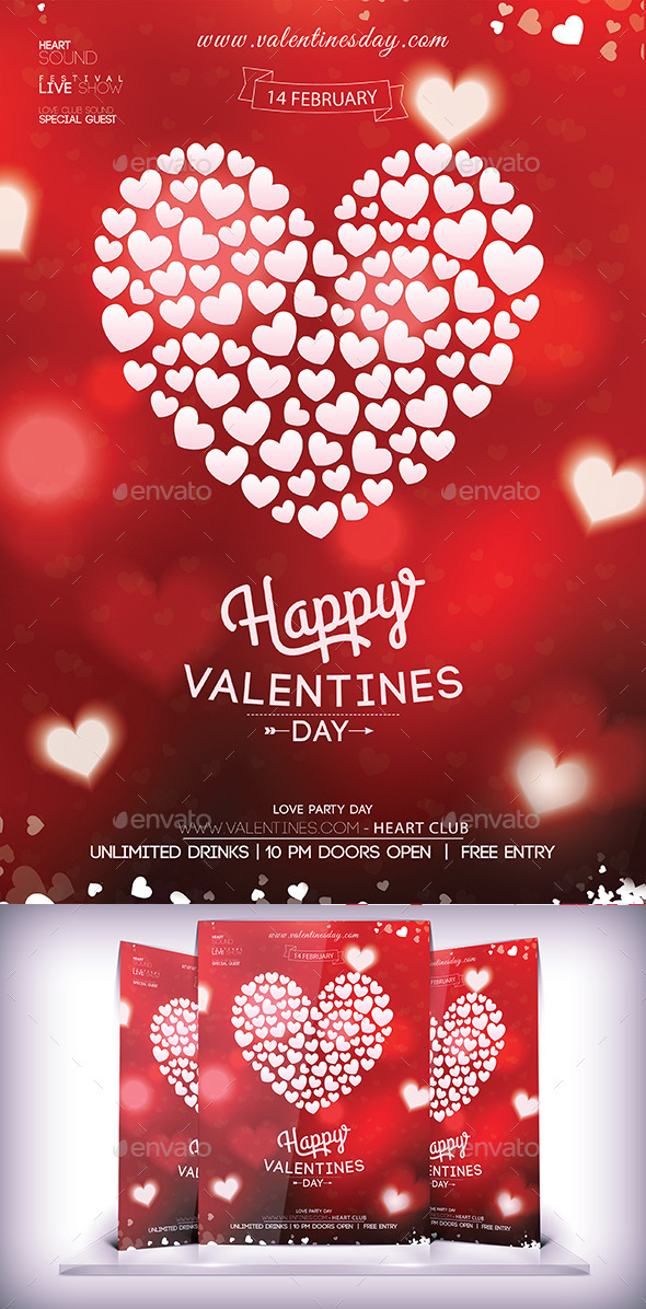 Love Valentines Party Flyer - Events Flyers
