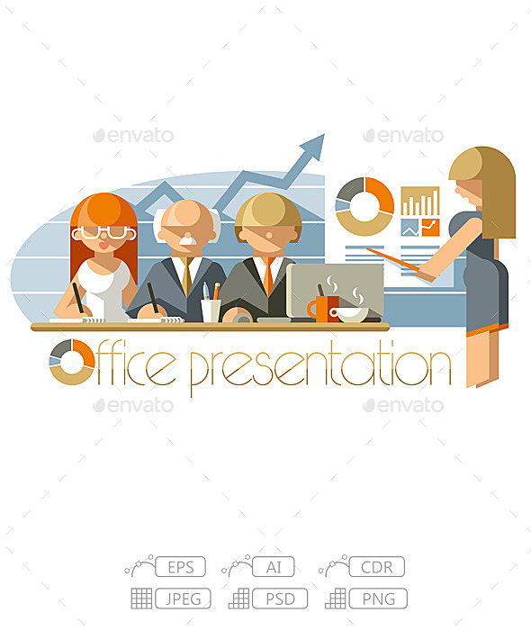 Flat Office Presentation - People Characters