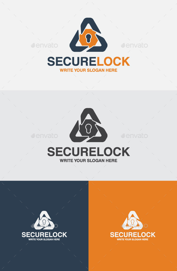 Secure Lock - Vector Abstract