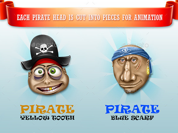Happy Pirates - Characters Illustrations