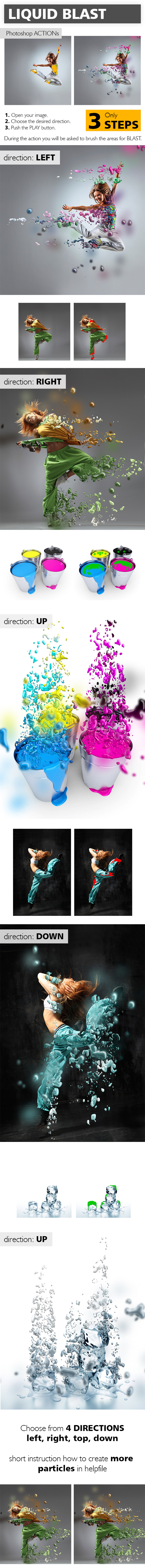 Liquid Blast Photoshop Action - Photo Effects Actions