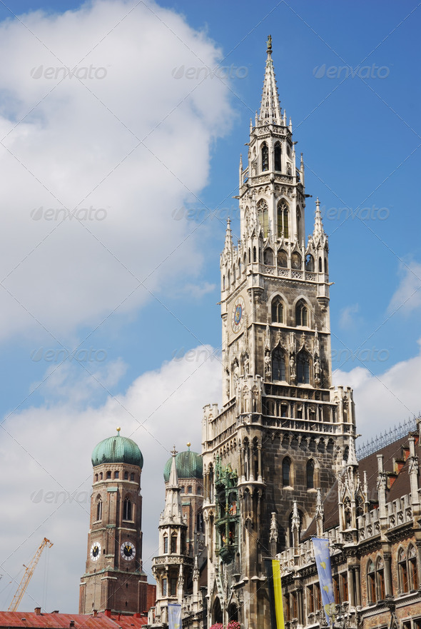 City house of Munich - Stock Photo - Images