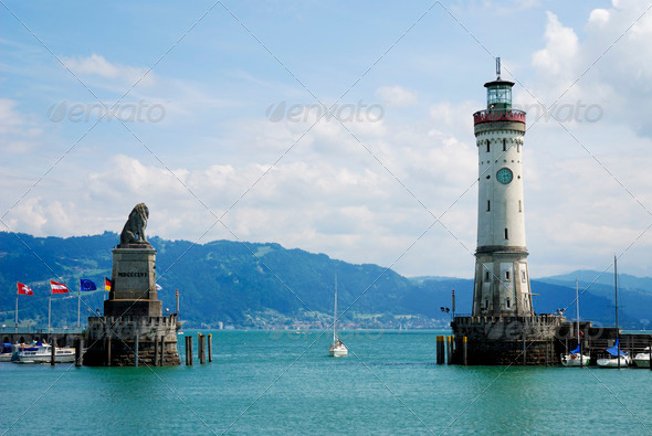 Port of Lindau - Stock Photo - Images