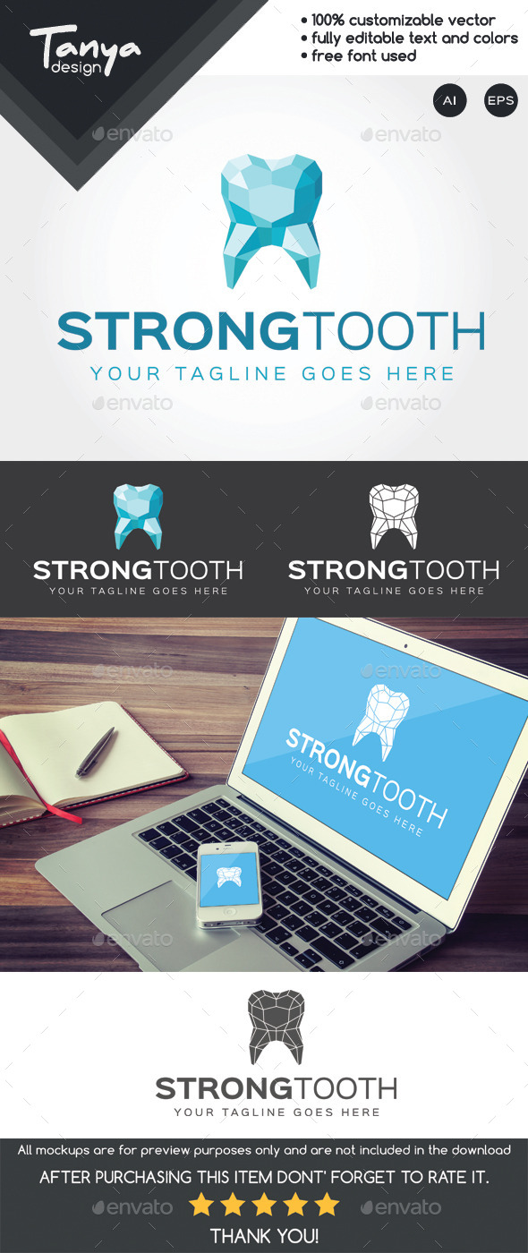 Strong Tooth Logo Template - Symbols Logo Templates