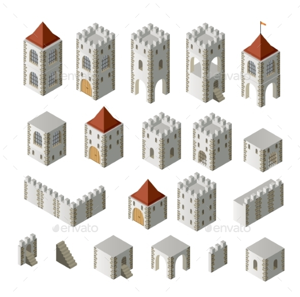Medieval Buildings - Buildings Objects