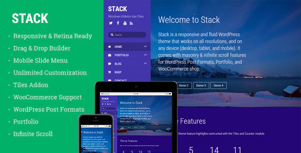 Stack – WordPress Theme for Creating Metro Layouts