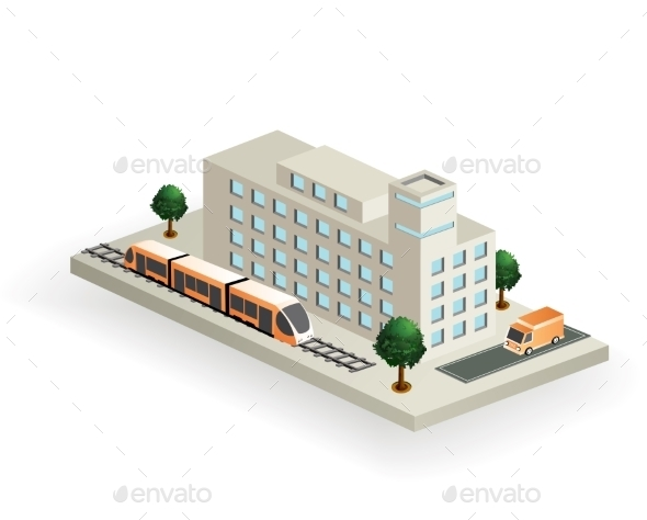 Isometric Transport - Buildings Objects