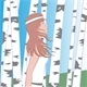 Girl Between Birches - GraphicRiver Item for Sale
