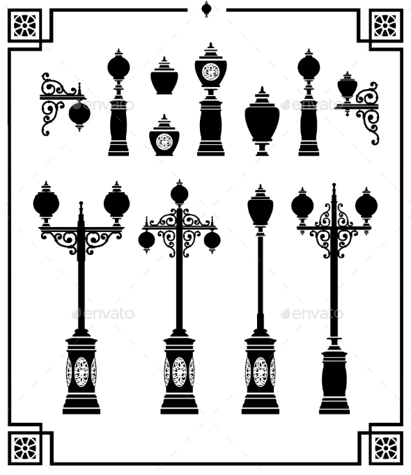 Street Lamps - Tattoos Vectors