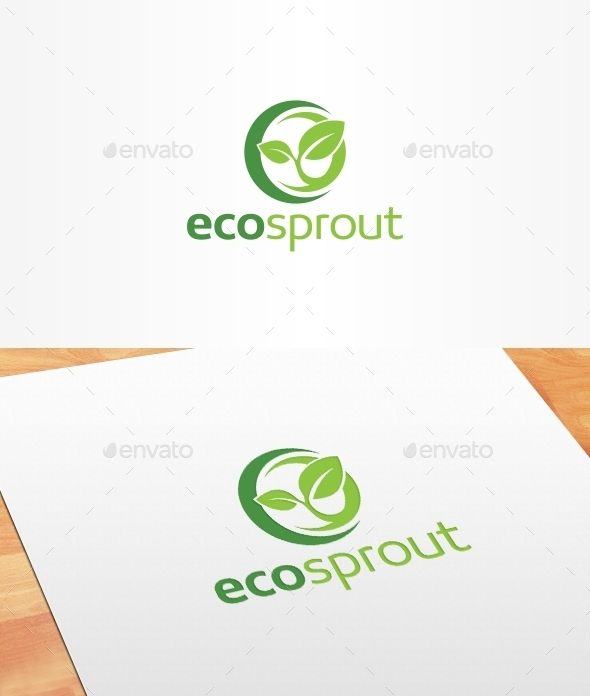 Eco Sprout Logo Template - Nature Logo Templates
