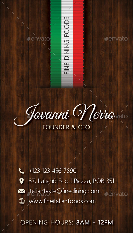 Italian restaurant business card by rapidgraf graphicriver italian restaurant business card colourmoves