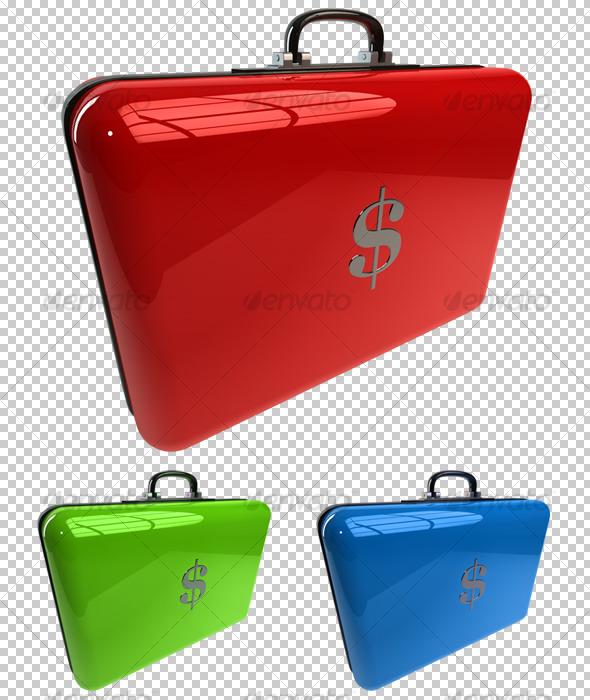 3D Business Case - Objects 3D Renders