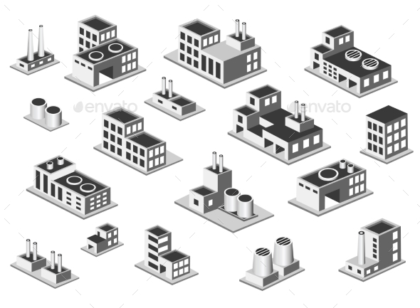 Factory Set - Buildings Objects