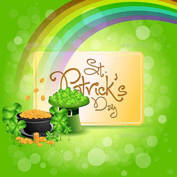 St. Patricks Day Cauldron with Gold Coins - Seasons/Holidays Conceptual