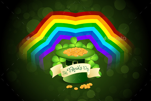 Patrick's Day Card with Leprechaun Hat - Seasons/Holidays Conceptual