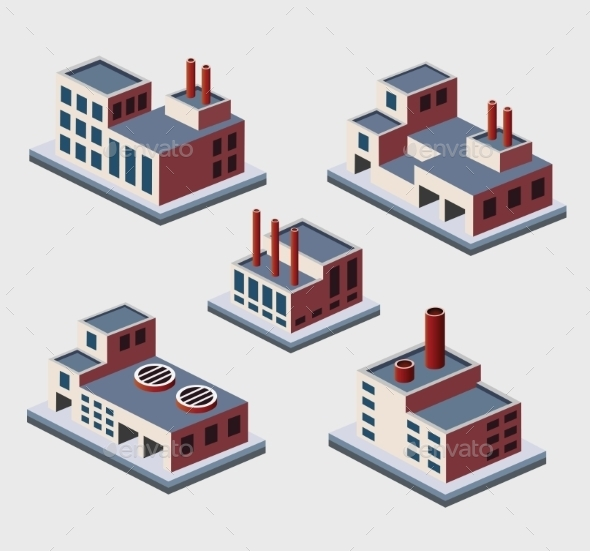Isometric Buildings  - Buildings Objects
