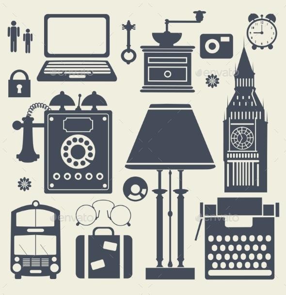Set of Elements - Travel Conceptual
