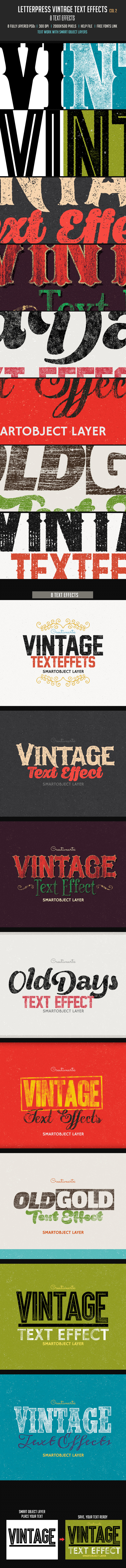 Letterpress Vintage Text Effects 2 - Text Effects Actions