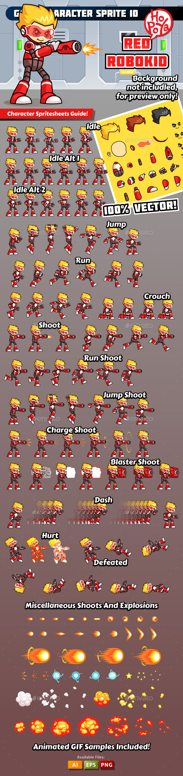 Game Character Sprite 10 - Sprites Game Assets