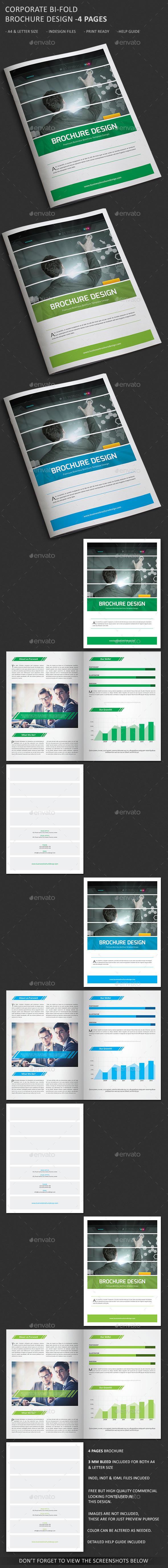 Corporate Bi-Fold Brochure – 4 Pages - Corporate Brochures