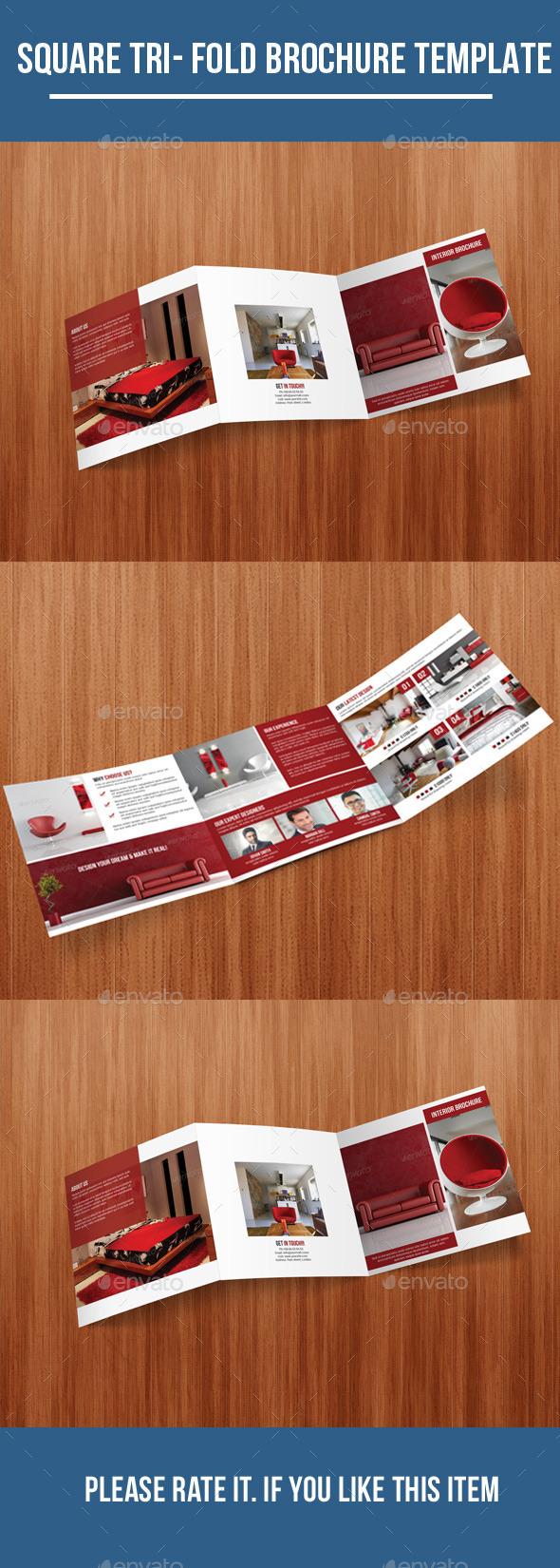 Square Tri - Fold Interior Brochure - Corporate Brochures