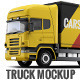 Cargo Truck Mock-Up - GraphicRiver Item for Sale