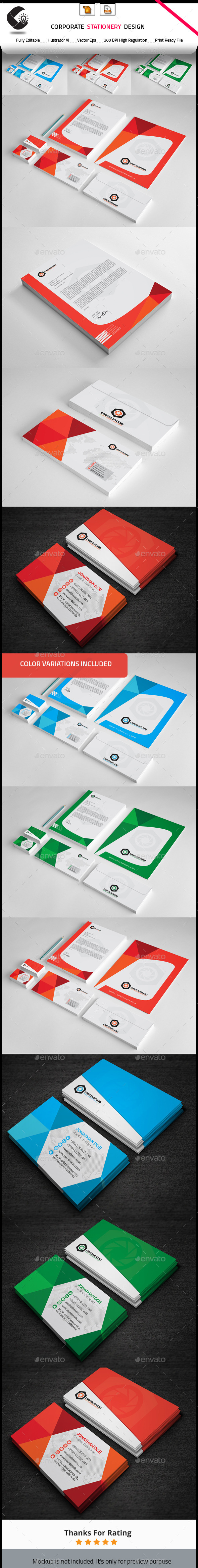 Corporate Stationery Design - Stationery Print Templates