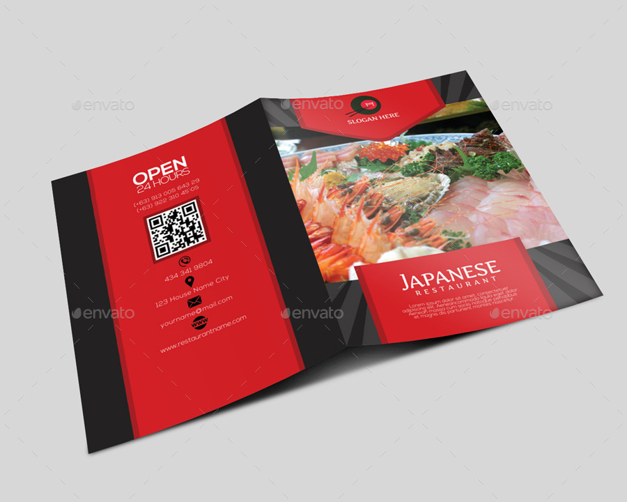 japanese restaurant brochure by leetspeak graphicriver