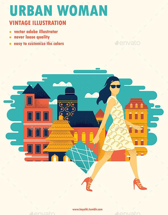 Modern Urban Woman  - Retail Commercial / Shopping