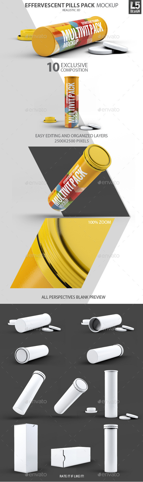 Effervescent Pills Pack Mock-Up - Miscellaneous Packaging
