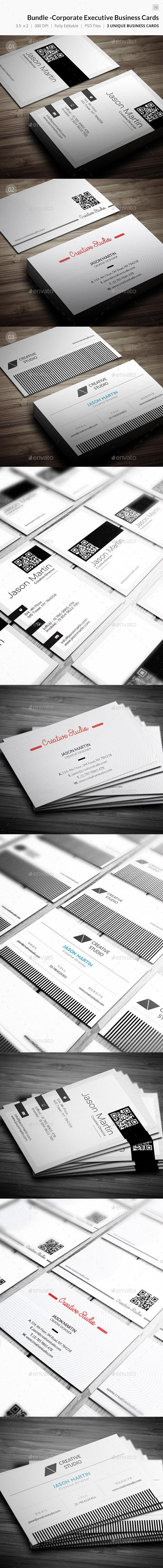 Bundle - Corporate Executive Business Cards - 70 - Corporate Business Cards