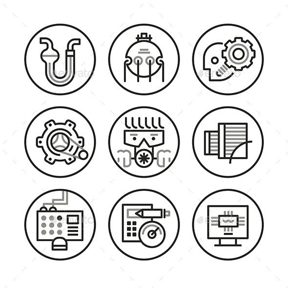 Engineering Icons - Technology Icons