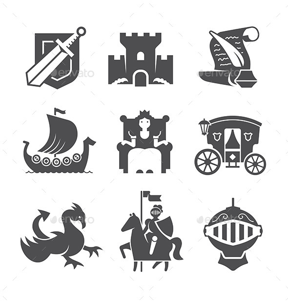 Medieval Symbols Collection - Miscellaneous Vectors