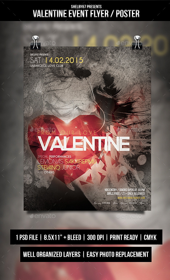 Valentine Event Flyer / Poster - Events Flyers