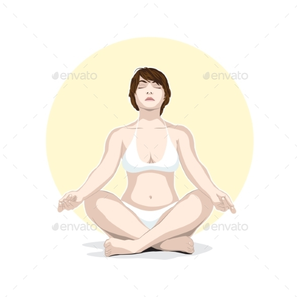 Woman Practicing Yoga - People Characters