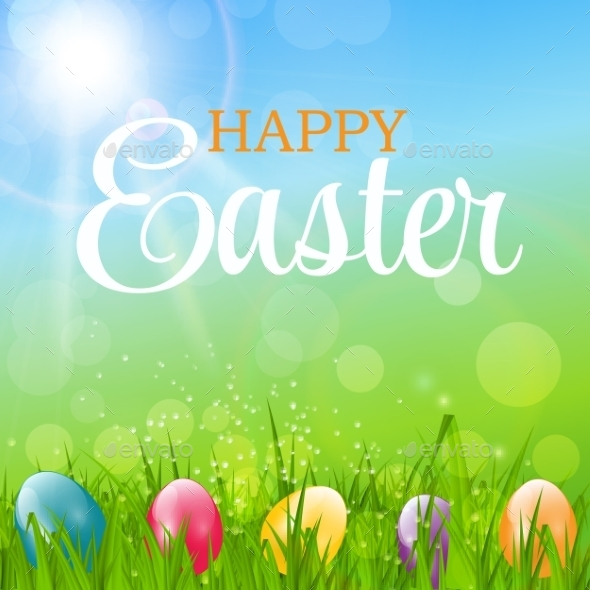 Happy Easter Background Vector Illustration - Miscellaneous Seasons/Holidays