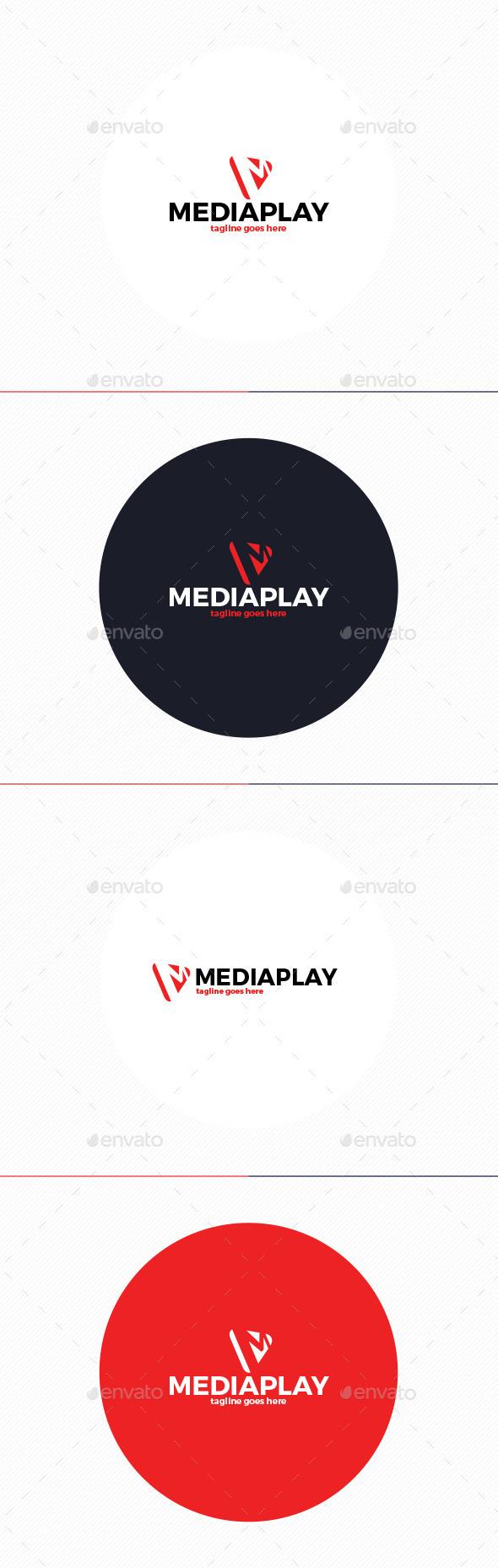 Media Play Logo • Letter M - Letters Logo Templates